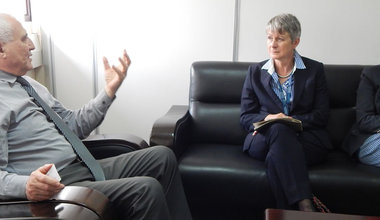 German Ambassador Jutta Frasch pays a courtesy visit to the UN Special Envoy for the Great Lakes region