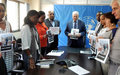 The Special Envoy of the Secretary-General for the Great Lakes region of Africa, Said Djinnit, and his staff mark a moment of silence in solidary with the People of Syria.